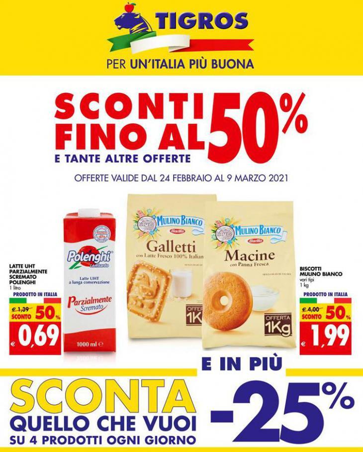 Sconti Fino Al 50% . Tigros (2021-03-09-2021-03-09)