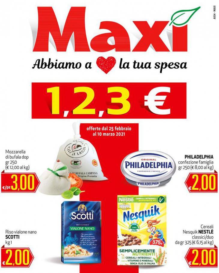 1, 2, 3€ . Maxi Superstore (2021-03-10-2021-03-10)