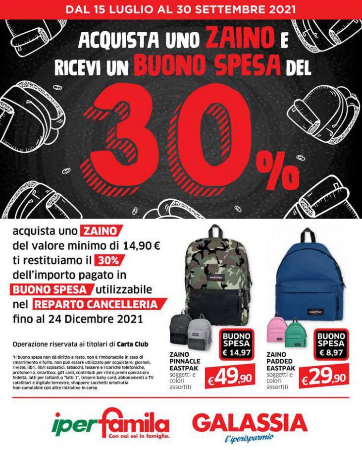Speciale Zaini Buono Spesa 30%. Galassia (2021-09-30-2021-09-30)